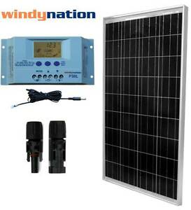 Eco-Solar-Kit-100W-Watts-Solar-Panel-Off-Grid-12V-RV-Boat-Home-Solar-System