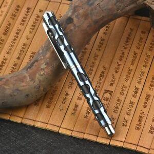 EDC TC4 Titanium Ti Portable Tactical Pen Pocket Ballpoint Pen Outdoor EDC Pen