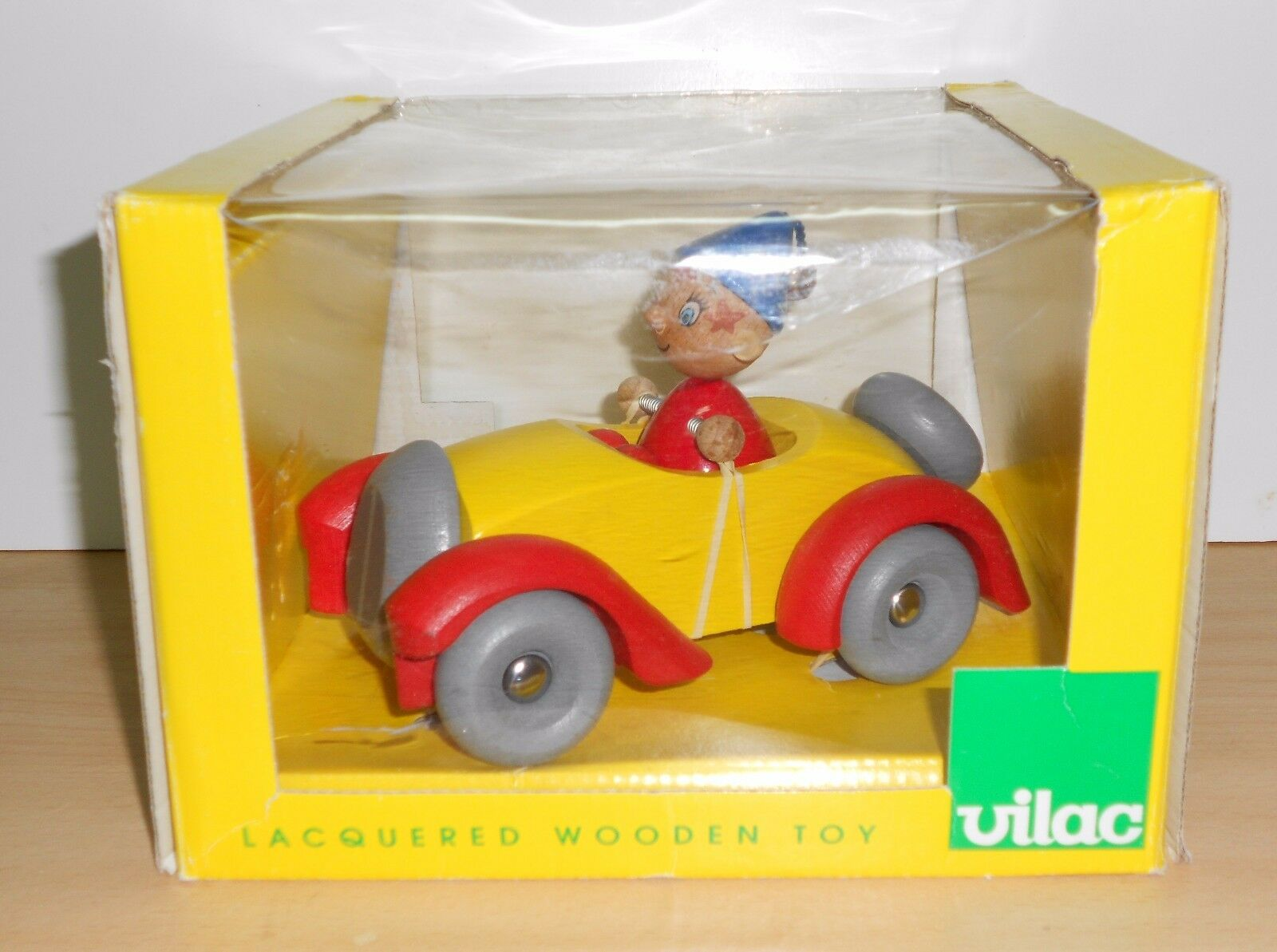 NODDY CAR OUI OUI Enid Blyton VILAC WOODEN BOIS TOY - NEW