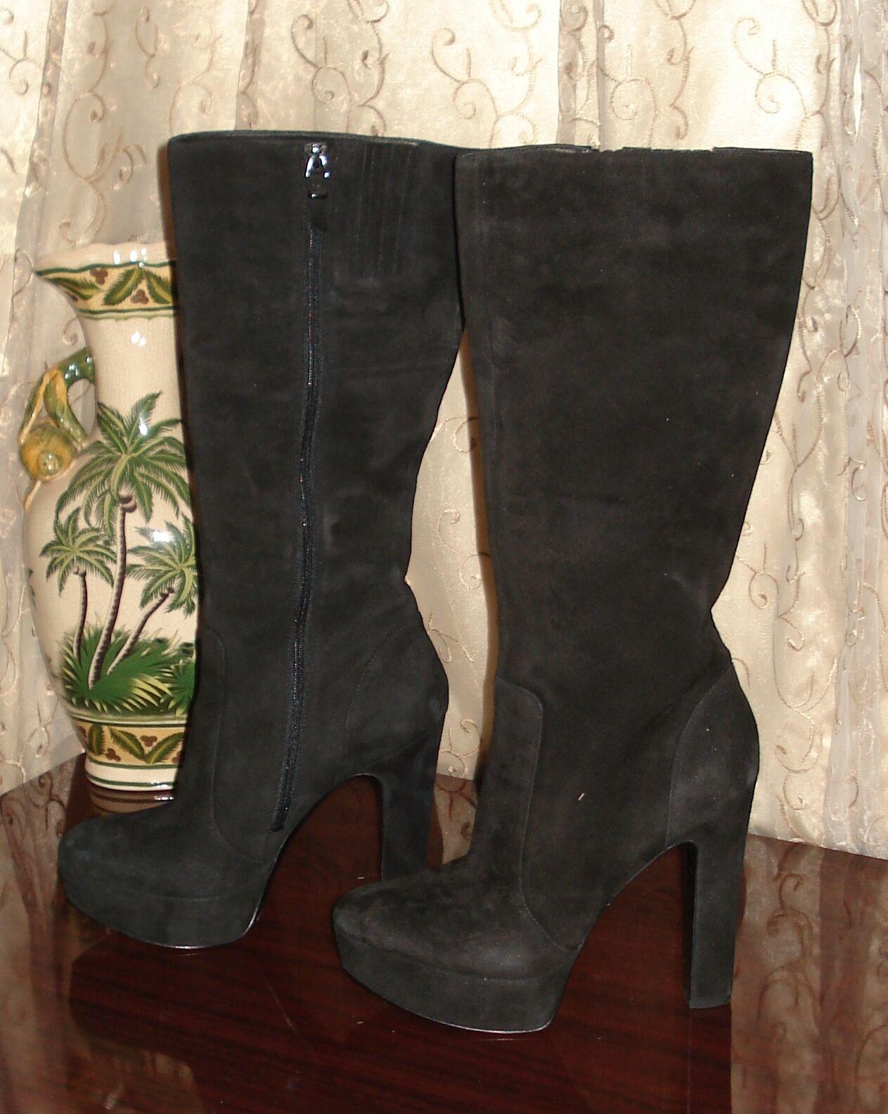 botas De Plataforma De Gamuza Negra (Stevie (Stevie (Stevie Nicks Fleetwood Mac)  punto de venta