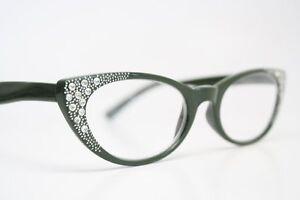 fe7dba586891 Image is loading Cat-Eye-Rhinestone-Reading-Glasses-Vintage-Style-Cateye-