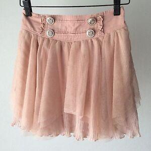Liz-Lisa-Glitters-Mesh-Asymmetry-Pleated-Skirt-Kawaii-Japanese-Gyaru-Fashion