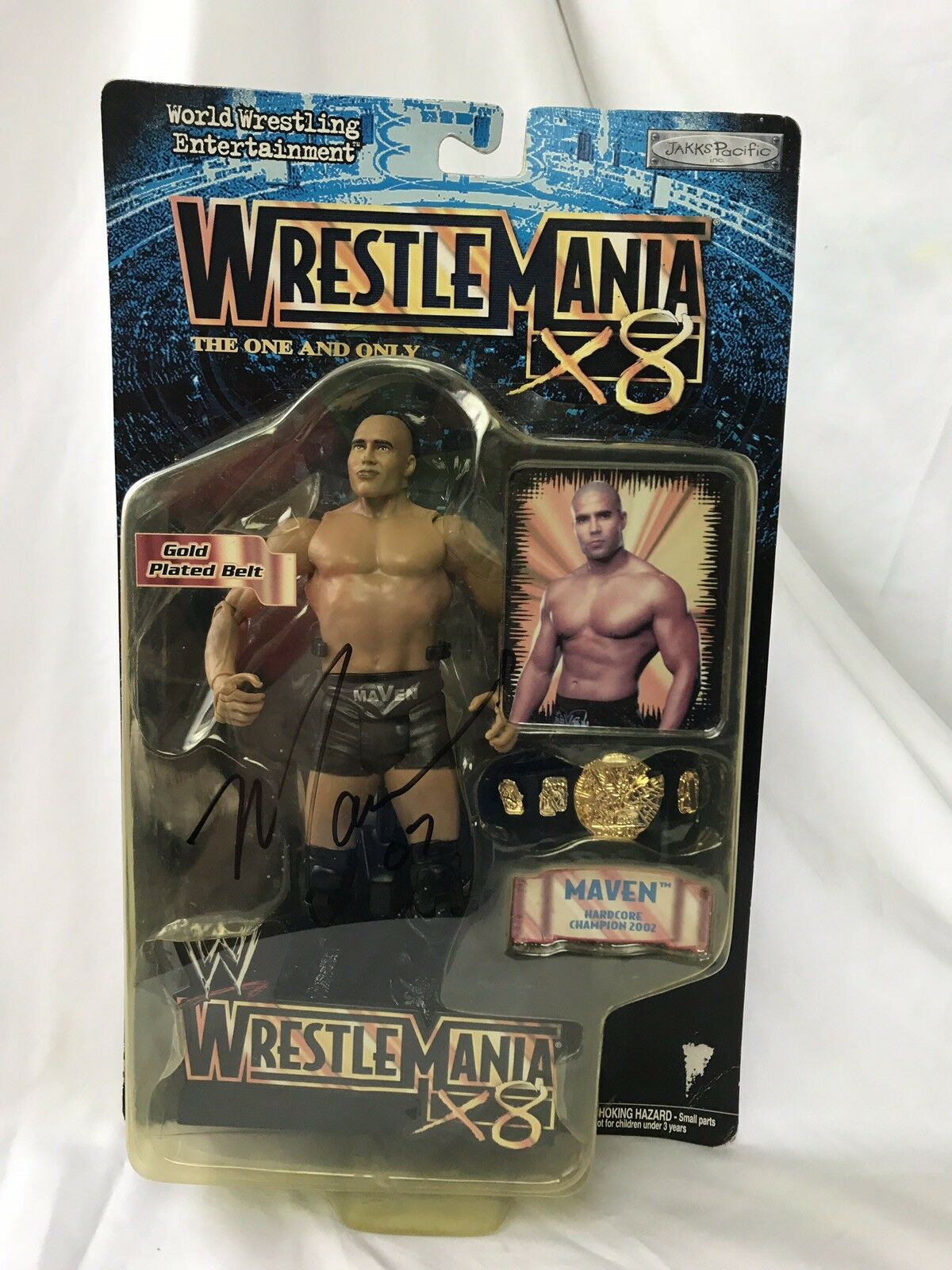 WWE Superstar Maven Autographed Jakks Pacific 2002 Wrestlemania X8 Signed Figure