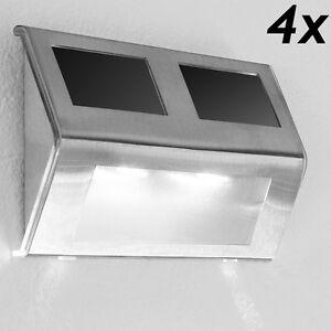 Applique-lampe-murale-solaire-4x-lumiere-energie-solaire-Luminaire-exterieur