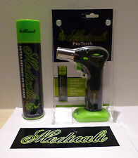 MEDICALI Butane Torch with 1 can Medicali Butane Gas Lighter Refill and sticker
