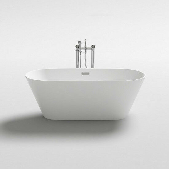 Vasca da bagno 150x75x58h freestanding bianca design moderno centro stanza  wl