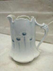 Fine Rosenthal Copenhagen Sevres Porcelain Creamer Cream Pitcher Blue Daisies