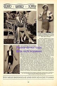 Magasiner Pour Pas Cher Tenue 30er Rapport Annuel 1932 Elli Zeininger Grete Fleischer Vienne Maillot De Bain-afficher Le Titre D'origine BéNéFique à La Moelle Essentielle