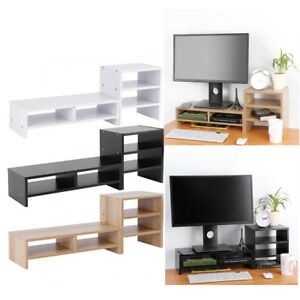 Computer-Laptop-Monitor-Riser-Stand-Desktop-Organizer-3-Layer-Book-Shelf-Rack