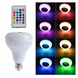Bluetooth-Lautsprecher-Birnen-Licht-12W-LED-RGB-intelligente-Musik-Lampen