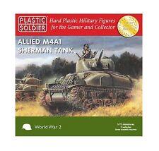 Plastic Soldier Company BNIB 1/72nd Sherman M4A1 75mm Tank WW2V20004