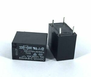835-1A-B-C 12V 10A PIN:4P SONG GHUAN Relay QTY:2