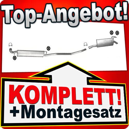 Auspuff FIAT MULTIPLA 100 1.6 16V Bipower /& Blupower Auspuffanlage 735