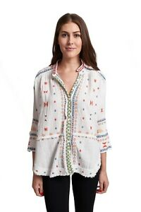 Pete-and-Greta-by-Johnny-Was-100-Cotton-Ela-Gauze-Embroidered-Blouse-P10418-New