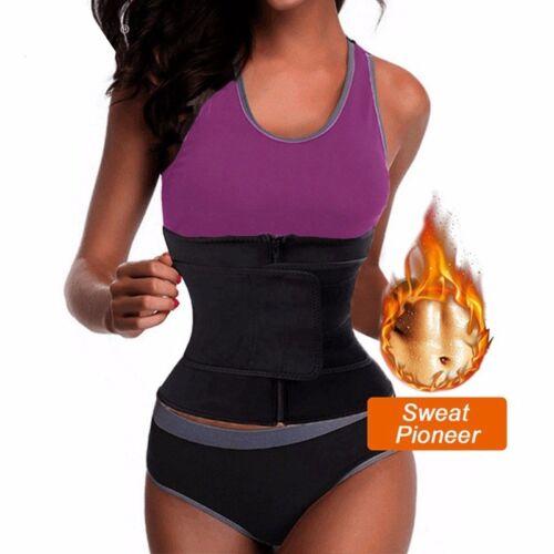 Women Fajas Hot Sweat Body Shaper Waist Trainer Cincher Corset Belt Shapewear MC