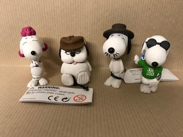 100 Schleich Figuren 4 versch. Charakter Peanuts Snoopy Neu / Ovp