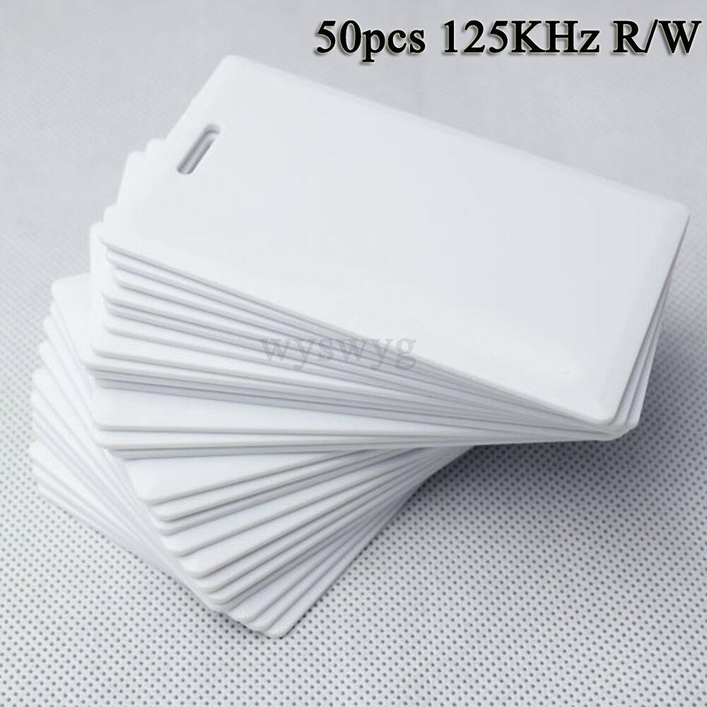 125khz Rfid Id em 50pcs de escritura de reescribir gruesas de tarjetas para Escritor Copiadora Duplicadora