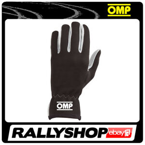 OMP NEW RALLY Karthandschuh Handschuhe Professionell  Motorsport Schwarz