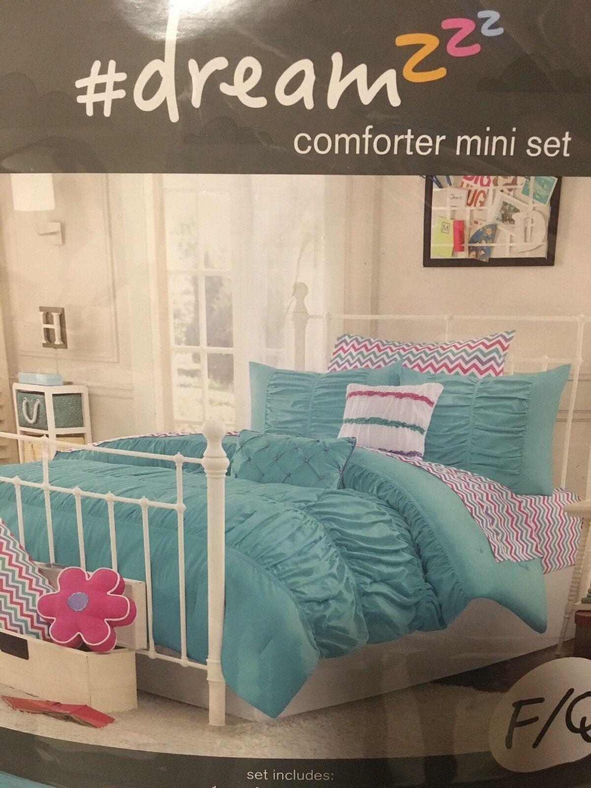 BED BATH & BEYOND  dreamz COMFORTER 7PC SET FULL QUEEN