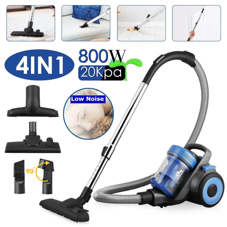 4IN1 800W Bagless Vacuum Cleaner Compact Cyclonic Cylinder Hoover HEPA Vac 20Kpa