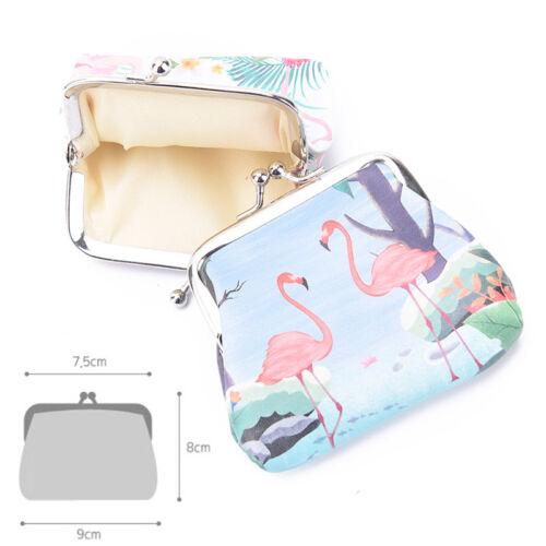 flamingos women wallet small card holder coin purse ladies clutch handbag V2