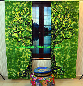 Tree-of-Life-Indian-Door-Curtain-Cotton-Hippie-Tapestry-Decor-Window-Tapestries