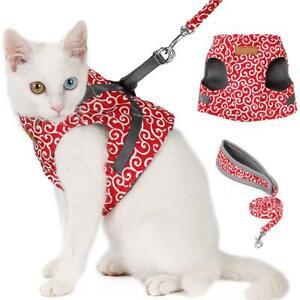 Escape-Proof-Cat-Harness-Padded-Vest-Leash-Adjustable-Soft-Mesh-for-Cat-Walking