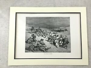 Jewish-Passover-Story-Antique-Print-Egyptian-Plagues-Death-of-Cattle-Judaica
