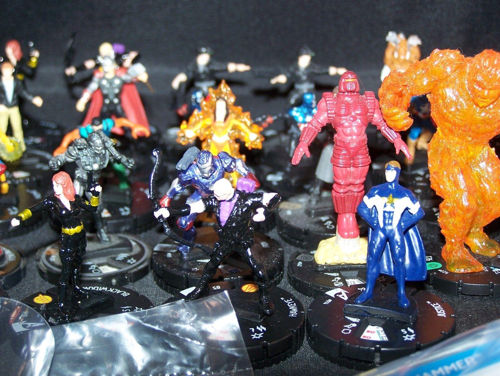 Figuras De Marvel Heroclix lote mixto de y objetos