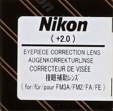 Nikon FM3A ,FM2,FA,FE Eyepiece Diopter lens +2 Genuine Nikon