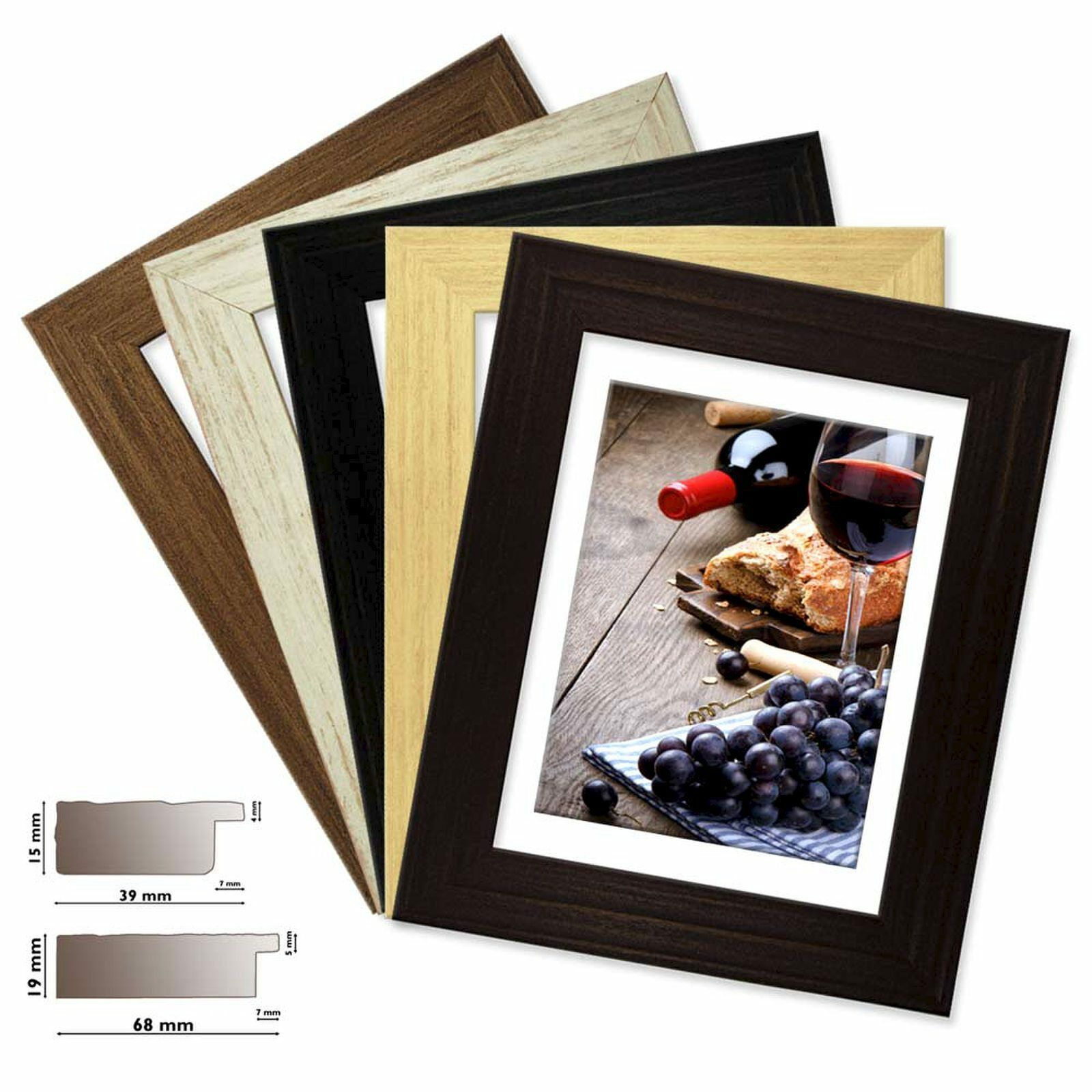 Cornice di legno Coloreeado  in 5 5 5 Coloreeei,opaco fa9bab