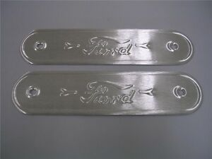 1928-1931-Ford-Model-A-Coupe-Door-Sill-Plates-LOGO-PAIR