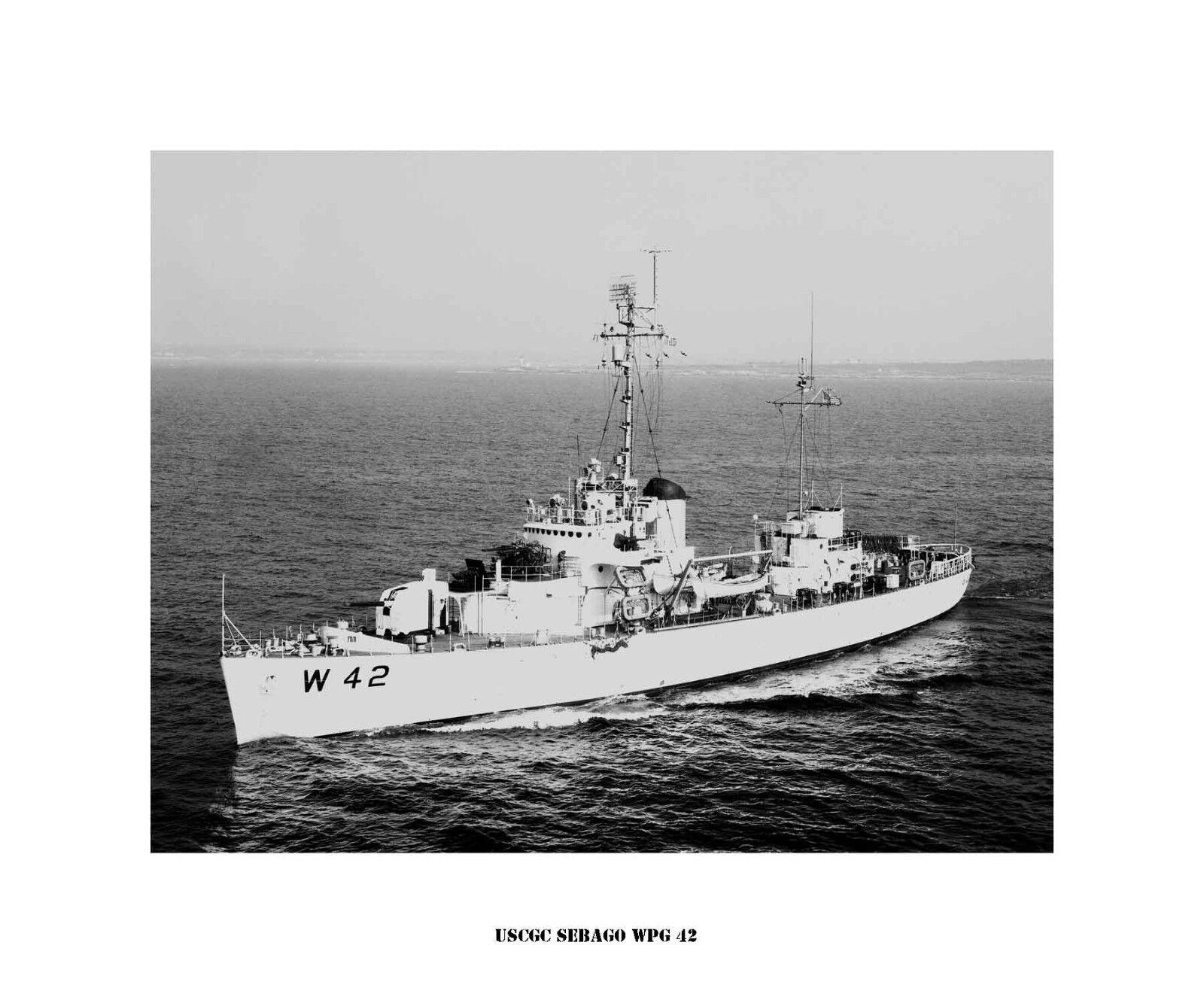 USCGC Sebago WPG 42 ---USCG, United States Coast Guard Ship Photo Drucken