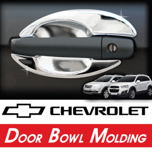 Chrome Door Bowl Molding Cover 8p Kit For 06 07 08 09 10 Chevy Captiva
