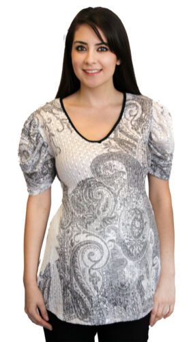 White Maternity Short Sleeve Pregnancy Sublimation Knit Vintage