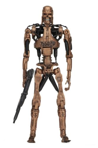 Terminator 2 - 7 Scale Figure - Kenner Tribute - Metal Mash Endoskeleton - NECA