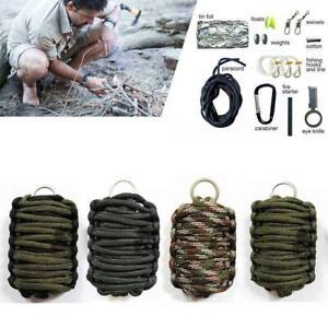 Survival-Kit-Paracord-Grenade-Fire-Starter-Camping-Gear-Kit-Fishing-Tool-Kit-GA