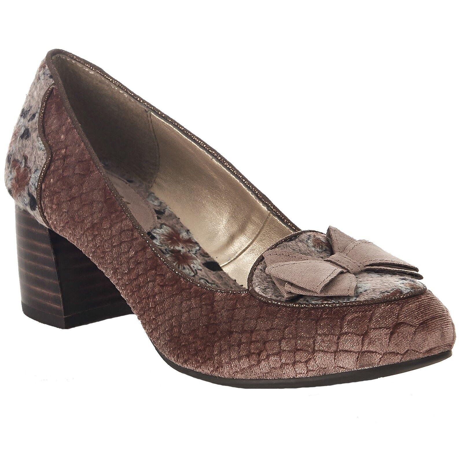 Señoras Ruby Shoo Thalia Visón apilados Tacón Alto Alto Alto Zapatos ESTILO MOCASÍN 09222  online al mejor precio