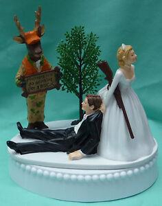 Image Is Loading Wedding Cake Topper Deer Hunter Hunting Buck Themed