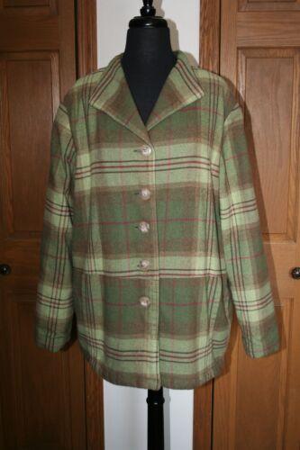 Euc Pink Rancher Wool Women's Grøn Tartan Xl Field Jacket Plaid Barnetøj zvR8vS6