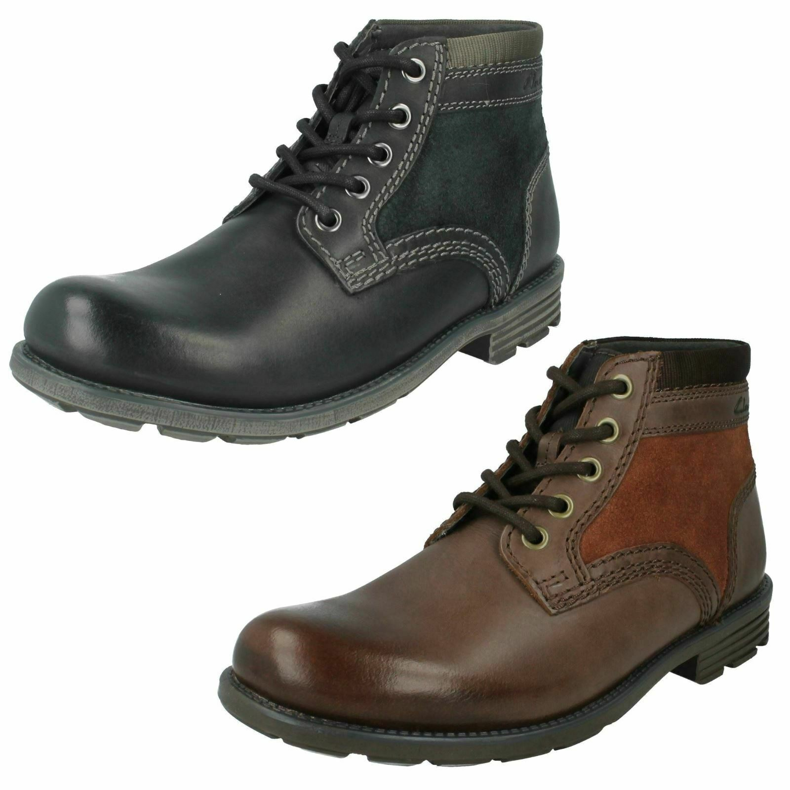 Mens Clarks Casual Ankle Boots 'Darian Mid'