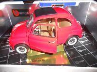 Fiat 500 F rossa 1965 cod 3304 Burago gold collection 1/16 no 1/18 1/10 nuova