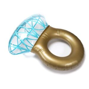 Giant-Inflatable-Diamond-Engagement-Ring-Pool-Float-Summer-Beach-Swimming-Toy
