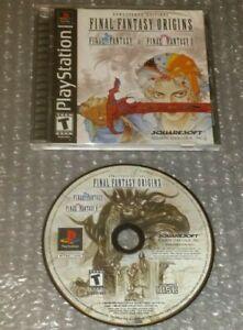 Final-Fantasy-Origins-Complete-Black-Label-2003-PS1-Playstation-1-I-II-Very-Good