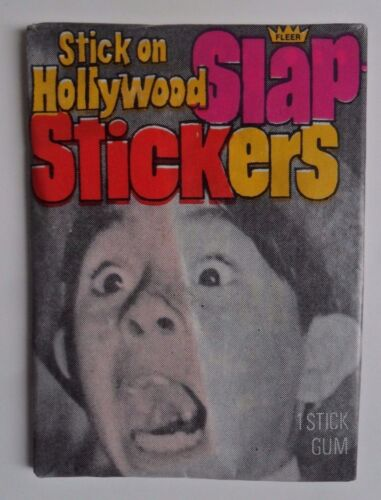 Unopened Pack 1975 Hollywood SLAP STICKER CARDS ~  Our Gang ALFALFA Wrapper