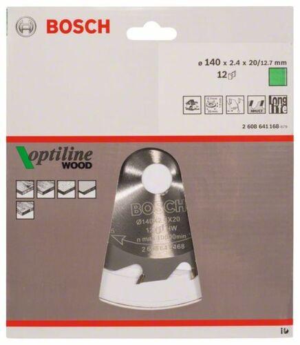 140 x 20//12,7 Bosch 2608641168 Kreissägeblatt Optiline Wood für Handkreissägen