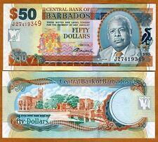 Barbados, 50 dollars, 2-5-2012, P-70-New UNC