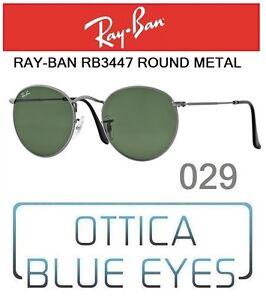 Occhiali-da-Sole-RAYBAN-RB-3447-col-029-ROUND-METAL-Sunglasses-Ray-Ban-Legend