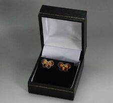 Silver aerstuds made by David Andersen Norway, Hand enamelled.