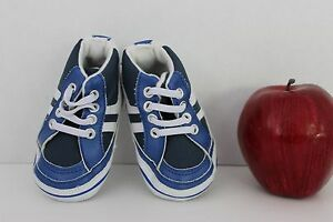Rugged Bear Infant BABY Boy -Blue~White- SNEAKERS Crib Shoes Size 2~